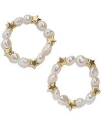 BaubleBar 2-piece Sofianne Pearl Bracelet Set - Metallic