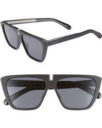 Givenchy 58mm Flat Top Sunglasses - Black