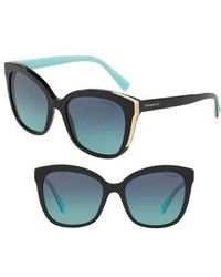 180f8d4431d0 Lyst - Tory Burch Black Acrylic Diamond Oversized Sunglasses in Black