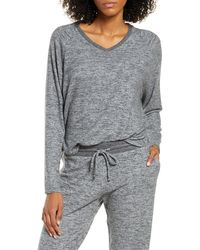 Nordstrom Relaxed Lounge Sweater - Gray