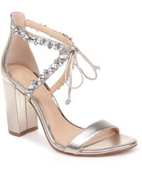 Badgley Mischka Thamar Embellished Sandal - Metallic