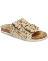 7693c6c60f1 Lyst - Free People Bali Footbed Sandals in Natural