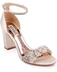 Badgley Mischka - Badgley Mischka Finesse Embellished Ankle Strap Sandal - Lyst