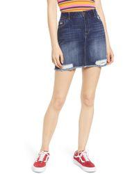 81beefd03707f Treasure & Bond Denim Miniskirt in Blue - Lyst