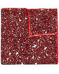 Hook + Albert - Bright Floral Silk Pocket Square - Lyst