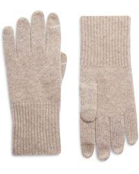 Halogen Halogen Cashmere Tech Gloves - Natural