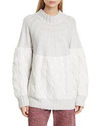 Rachel Comey Bowen Wool Blend Sweater - Gray