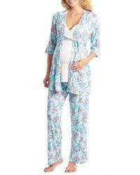 Everly Grey - Susan 5-piece Maternity/nursing Pajama Set - Lyst