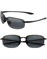 Maui Jim Ho'okipa Polarizedplus2 63mm Rectangle Sunglasses - Black
