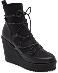 Steve Madden Atomic Wedge Lace-up Bootie - Black
