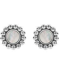 Lagos - Sterling Silver Maya Mother - Of - Pearl Circle Earrings - Lyst