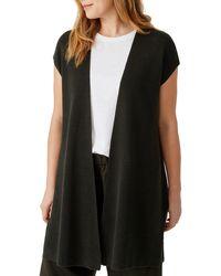 Eileen Fisher Organic Linen & Cotton Vest - Black