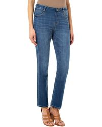 Liverpool Jeans Company Gia Glider Pull-on Straight Leg Jeans - Blue
