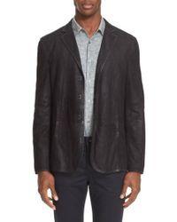 John Varvatos - Collection Slim Fit Leather Sport Coat - Lyst