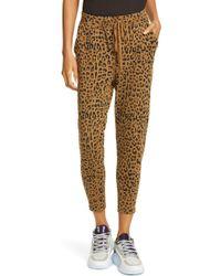 Nili Lotan Nolan Leopard Print Jogger Sweatpants - Multicolour