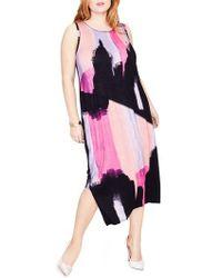 Rachel Roy | Rachel Rachel Roy Draped Back Print Midi Dress | Lyst