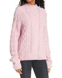 Rag & Bone Ariel Alpaca Blend Mock Neck Relaxed Fit Sweater - Pink