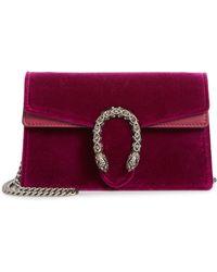 88ff0edf6d7 Gucci - Super Mini Dionysus Velvet Shoulder Bag - - Lyst