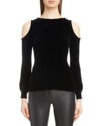 Loewe - Cold Shoulder Chenille Sweater - Lyst