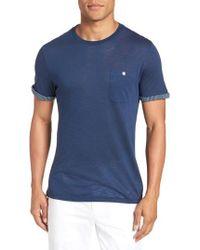 Ted Baker - Taxi Slub Cotton Pocket T-shirt - Lyst