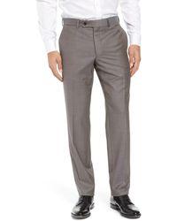 Ted Baker Jefferson Flat Front Wool Dress Pants - Grey