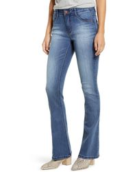 Wit & Wisdom Ab-solution High Waist Itty Bitty Bootcut Jeans - Blue