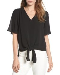 Chaus - Tie Front Split Sleeve Blouse - Lyst