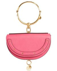 Chloé - Small Nile Bracelet Calfskin Leather Minaudiere - Lyst