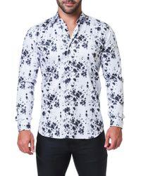 Maceoo - Fibonacci Splash Print Sport Shirt - Lyst