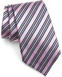 Ermenegildo Zegna Stripe Silk Tie - Blue