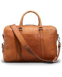 Shinola Leather Briefcase - Natural