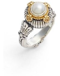 Konstantino | Etched Sterling & Cultured Pearl Ring | Lyst