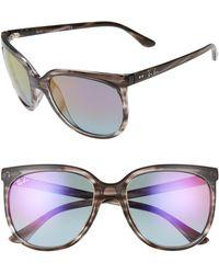 Ray-Ban 57mm Cat Eye Sunglasses - Grey
