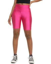 BP. Be Proud By Gender Inclusive Shiny High Waist Bike Shorts - Pink