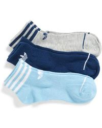adidas - Originals 3-pack Ankle Socks, Blue - Lyst