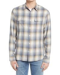 Vince - Shadow Plaid Button-up Shirt - Lyst