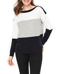 Wallis | Colorblock Ottoman Knit Sweater | Lyst