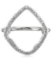 Monica Vinader | Large Riva Hoop Diamond Ring | Lyst