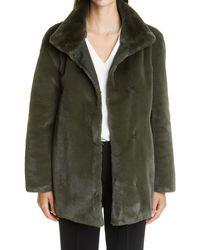 Akris Punto Faux Fur Coat - Green