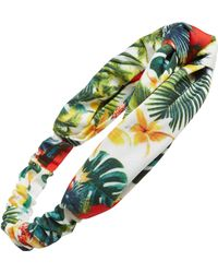 Tasha Floral Print Head Wrap - Green