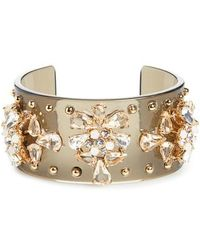 J.Crew - Crystal Studded Lucite Cuff Bracelet - Lyst