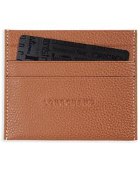 Longchamp - 'le Foulonne' Pebbled Leather Card Holder - Lyst