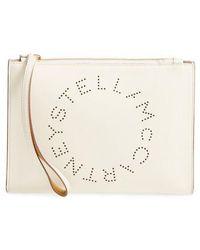 Stella McCartney - Alter Faux Nappa Leather Wristlet Clutch - Lyst
