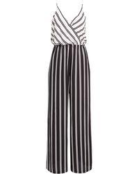 Chelsea28 Faux Wrap Jumpsuit - Black