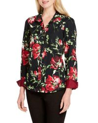 Foxcroft - Rhonda Cotton Floral-print Shirt - Lyst
