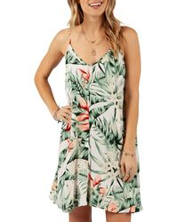 Rip Curl - Tropic Heat Palm Print Cover-up Dress - Lyst