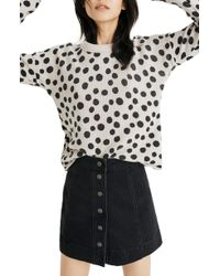 Madewell - Leopard Dot Pullover Sweater - Lyst