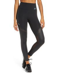 New Balance Q Speed Run Crew Tights - Black