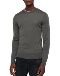AllSaints - Mode Slim Fit Merino Wool Sweater - Lyst