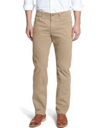 AG Jeans Graduate Sud Slim Straight Leg Pants - Black